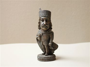 You can purchase the ready mini-sculpture of the prince II. Rákóczi Ferenc from the sculptor Mykhailo Kolodko