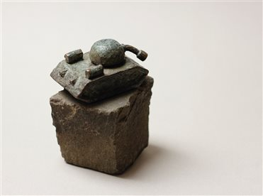 "You can purchase the mini-sculpture ""Sad tank"" from the sculptor Mykhailo Kolodko"